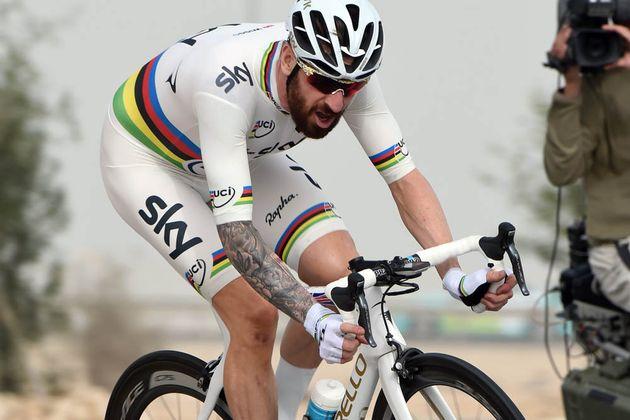 Bradley wiggins third in tour of qatar time trial for Bradley wiggins tattoo sleeve