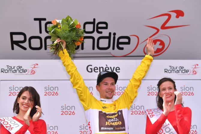 Primoz Roglic wins the overall title at the Tour de Romandie