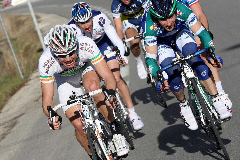 Nicolas Roche escape, Etoile de Besseges 2010, stage 4