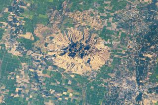 California's Sutter Buttes, a volcano remnant