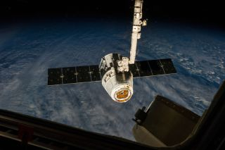 SpaceX's Dragon Capsule Attached to the International Space Station