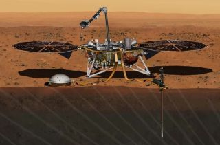 Mars InSight lander art