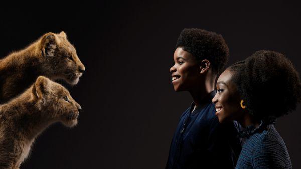 Shahadi Wright Joseph and JD McCrary young Nala and Simba