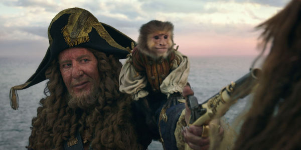 Pirates of the Caribbean Barbossa and monkey