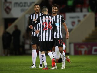 Morecambe v Newcastle United – Carabao Cup – Third Round – Globe Arena