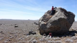 The researchers sampled erratic boulders deposited by a glacier on the central Sanetti Plateau in the Bale Mountains. Analysis of the boulders was used to figure out how long ago that glacier had advanced.