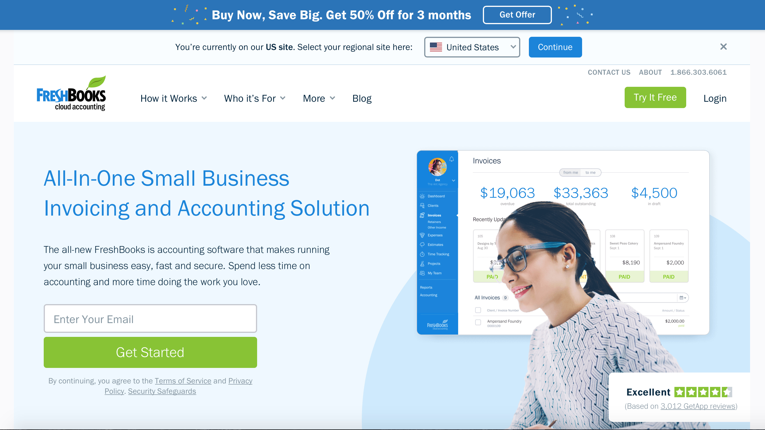 Freshbooks Accounting Software Order Status