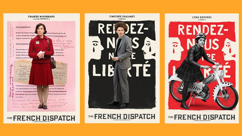 We NEED these posters for The French Dispatch