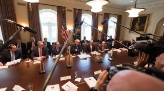 President Trump and Cabinet