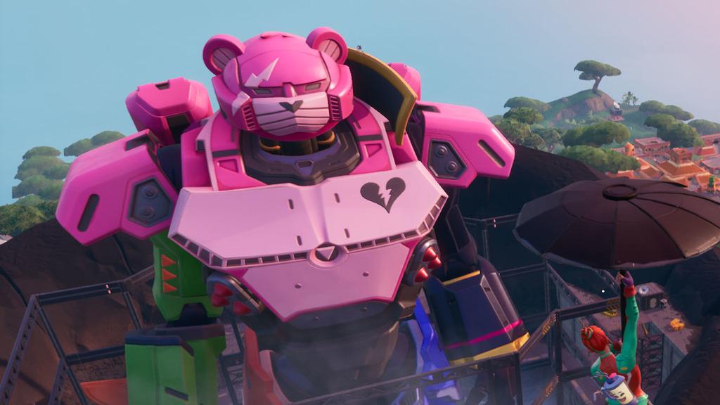 Fortnite Season 10 Mech Location Fortnite Season 9 Leak Confirms A Giant Showdown Between A Robot Bear And Monster Cat To Set The Stage For Season 10 Gamesradar