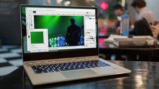 GIMP running on a Windows laptop