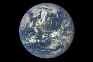 Our wet planet, as seen by the NOAA/NASA Deep Space Climate Observatory satellite in July 2015.