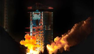 China's Queqiao relay satellite for the country's Chang'e 4 mission to the far side of the moon launched into space atop a Long March 4C rocket on Monday, May 21, 2018 Beijing Time (Sunday, May 20 EDT).