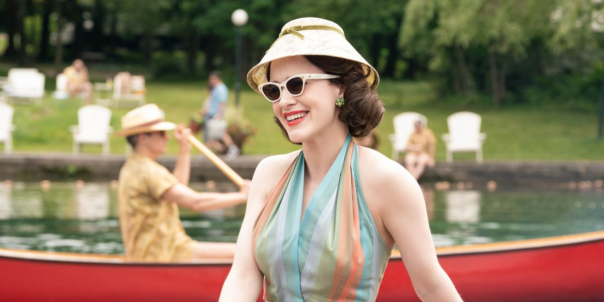 Mrs. Maisel from The Marvelous Mrs. Maisel on Amazon Prime.