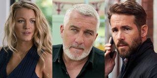 Blake Lively, Ryan Reynolds and Paul Hollywood
