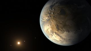 An artist's depiction of a rocky, Earth-size exoplanet.