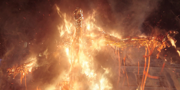 fire elemental  spider-man far from home