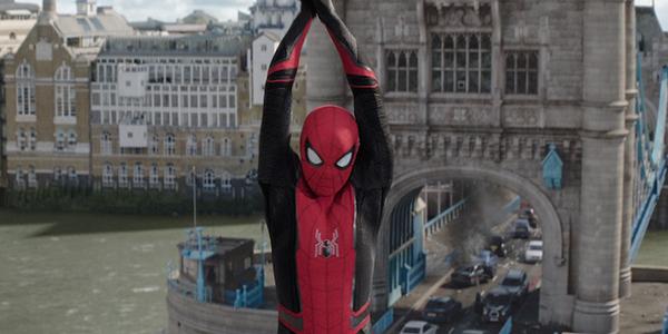 Spidey swinging near London's Tower Bridge