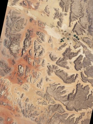 On April 3, 2011, NASA released this image from the Advanced Land Imager (ALI) on NASA's Earth Observing-1 (EO-1) satellite, which captured a natural-color image on July 27, 2001.