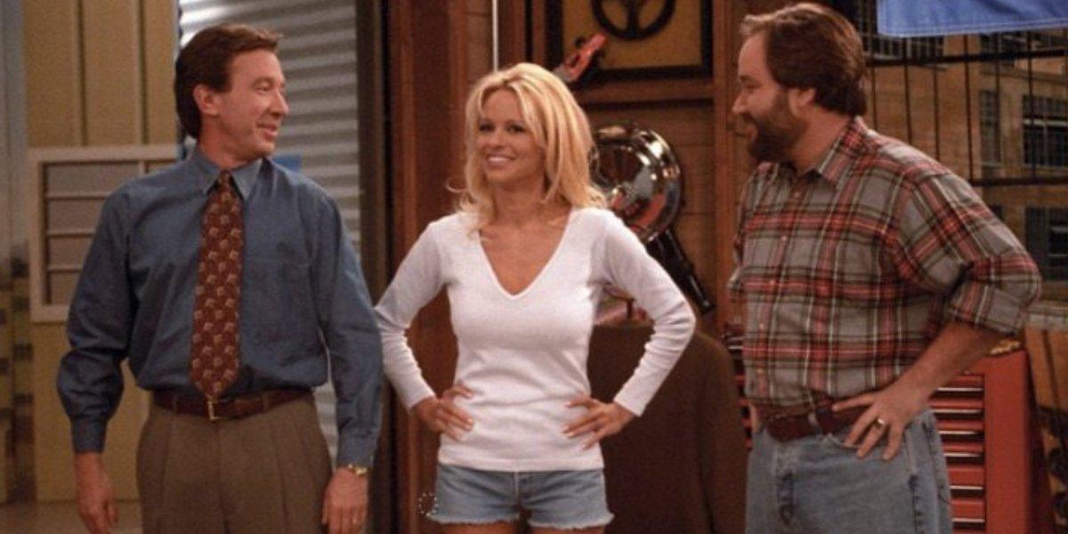 Tim Allen, Pamela Anderson, and Richard Karn on Home Improvement