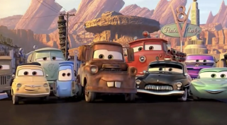 "A still from Disney-Pixar's ""Cars."""