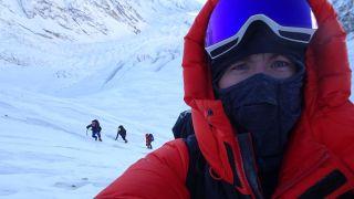 A selfie taken by climber Tom Ballard on his attempt to climb Nanga Pargat
