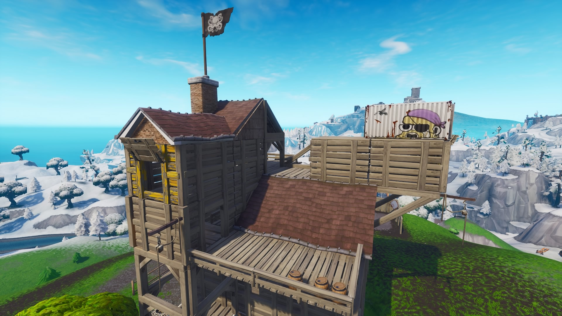 where to find fortnite pirate camps for the battle pass challenges - fortnite pirate campsite