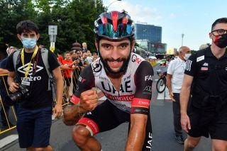 Tour de Pologne 2021 78th Edition 3rd stage Sanok Rzeszow 2264 km 11082021 Fernando Gaviria COL UAE Team Emirates photo Dario BelingheriBettiniPhoto2021