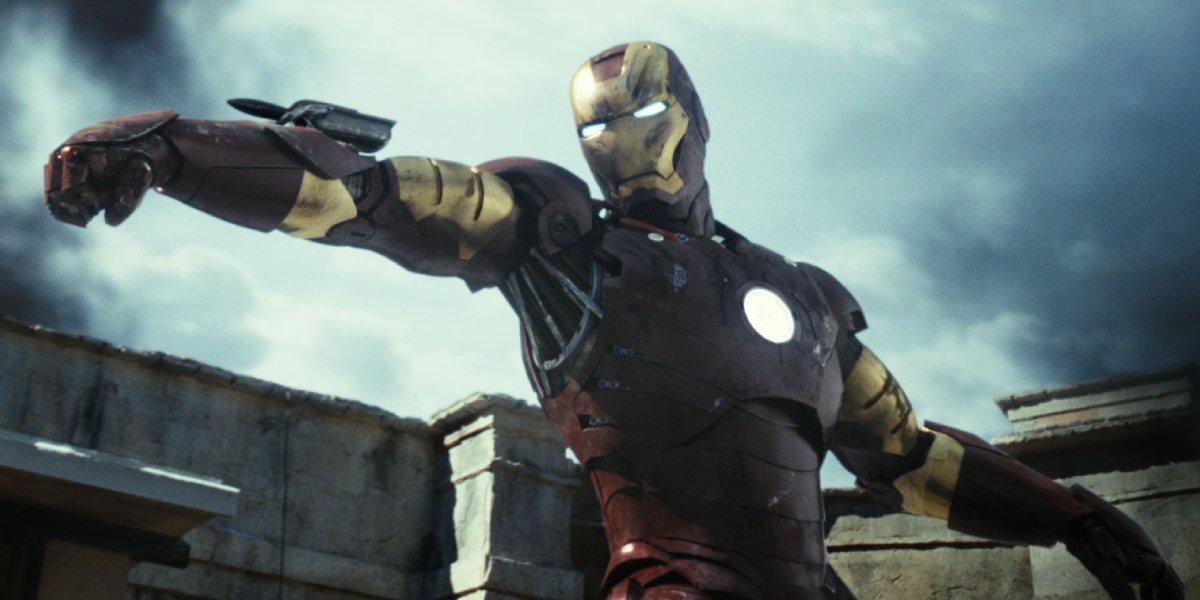 Robert Downey Jr. in Mark III in Iron Man