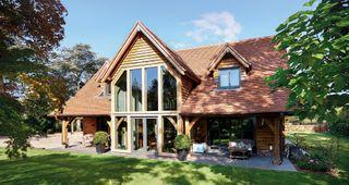 building an oak frame home