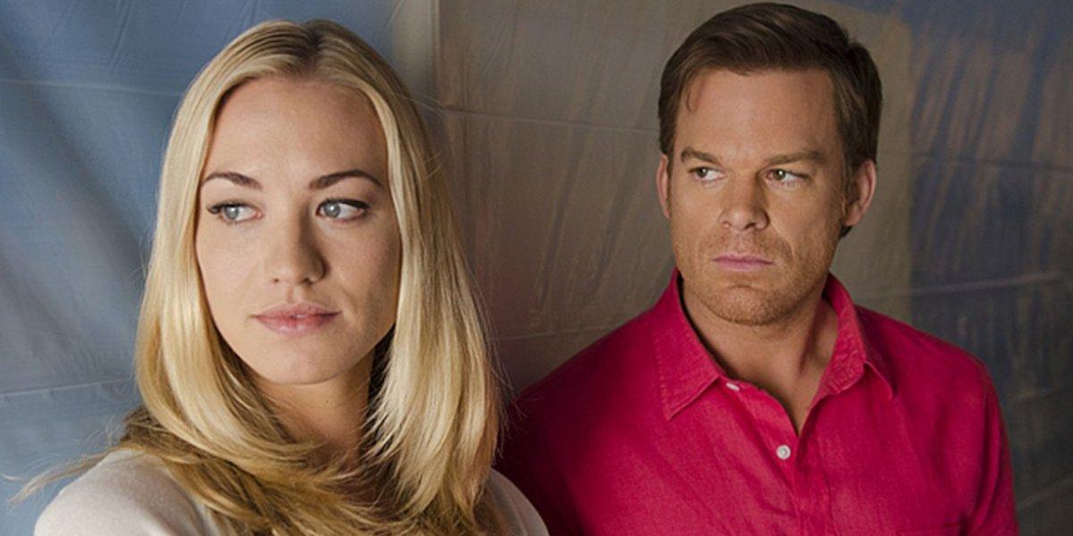 Yvonne Strahovski and Michael C. Hall on Dexter