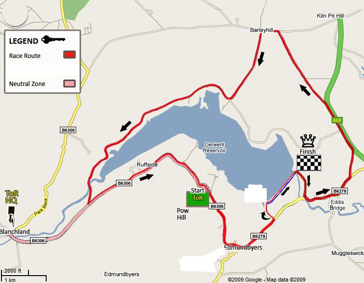 Tour of Reservoir map