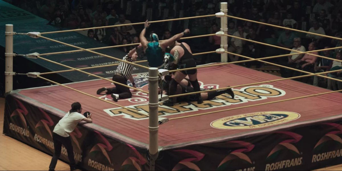 A wrestling scene from Nuestra: Lucha Libre