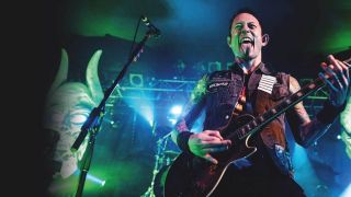 Trivium Matt Heafy sticking out tongue