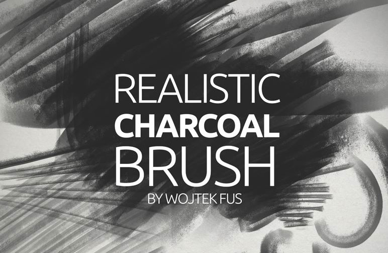 Photoshop brushes: Realistic charcoal