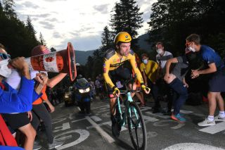 LA PLANCHE FRANCE SEPTEMBER 19 Tom Dumoulin of The Netherlands and Team Jumbo Visma Fans Public during the 107th Tour de France 2020 Stage 20 a 362km Individual Time Trial stage from Lure to La Planche Des Belles Filles 1035m ITT TDF2020 LeTour on September 19 2020 in La Planche France Photo by Tim de WaeleGetty Images
