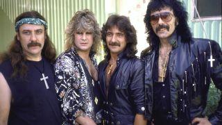 Black Sabbath backstage at Live Aid in 1985