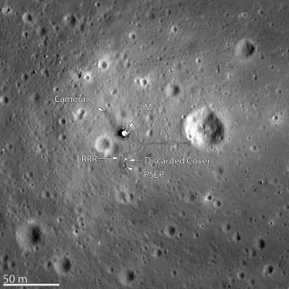 The Lunar Reconnaissance Orbiter Camera snapped its best look yet of the Apollo 11 landing site on the moon.