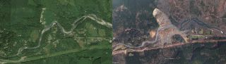 Washington Mudslide Before & After