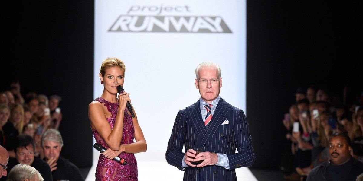 Heidi Klum and Tim Gunn in Project Runway