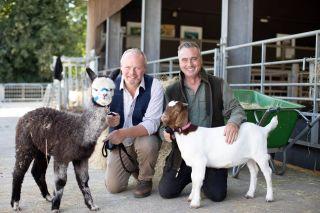 Presenters David and Robert Nicholson at Cannon Hall Farm.