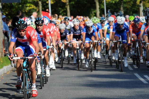 Chris Froome chases, Elite men's road race, Road World Championships 2011