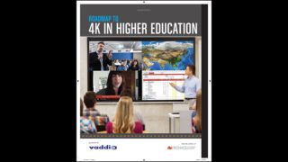Roadmap to 4K in Higher Education