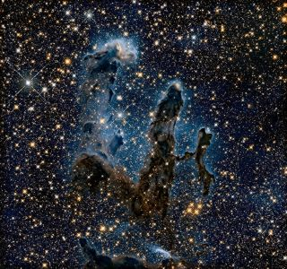 In this Hubble Space Telescope image is the Eagle Nebula's Pillars of Creation.