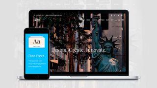 Mobile and laptop screens displaying WordPress themes