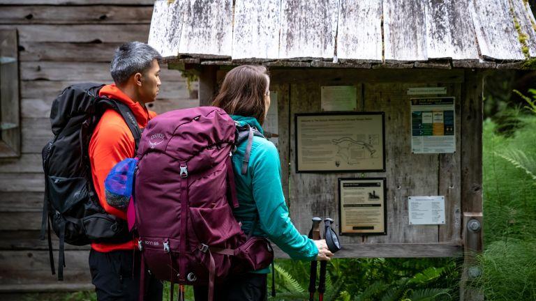 Osprey Rook and Renn backpacking rucksacks