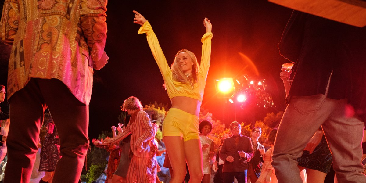 Margot Robbie dancing in Once Upon A Time In Hollywood