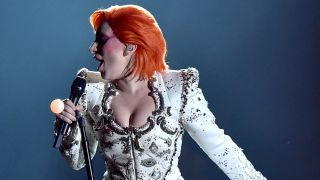 A picture Lady Gaga as David Bowie