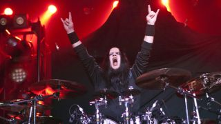 Joey Jordison performing live