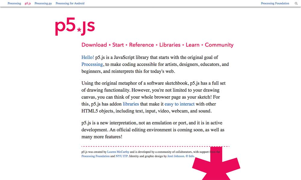 p5.js download screen